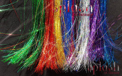 100cm Hair Tinsel 250 Strands 7 Sparkling Colours