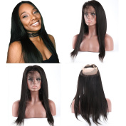 Meizi Hair 8A Grade 360 Lace Frontal Closure Straight 100% Unprocessed Virgin Brazilian Hair Free Part with Baby Hair