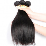 Goldfinch Brazilian Straight Hair 3 Bundles 100% Unprocessed Human Hair Extensions Nature Black Virgin Hair Bundles 12 14 41cm