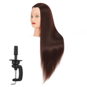 Hairginkgo 70cm - 70cm Super Long Cosmetology Mannequin Manikin Synthetic Fibre Training Head Doll Head with Clamp