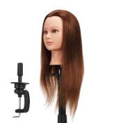 Hairginkgo 60cm - 60cm 100% Human Hair Training Practise Head Styling Dye Cutting Mannequin Manikin Head