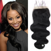 5x 5 Brazilian Lace Closure Bleached Knots Cheap Unprocessed Virgin Human Hair Body Wave Closure Pieces Big Size Full Lace Closure Free Part With Baby Hair 25cm