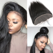 33cm X 10cm Ear To Ear Lace Frontal Closure Brazilian Virgin Hair Straight Human Hair Frontal Pre Plucked With Baby Hair 36cm