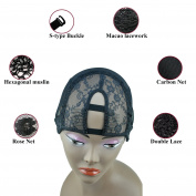 GEX Middle U Part Weaving Wig Foundation Wig Cap with Sturdy Straps U Part With 2 Clip Combs For Wig Making M Size