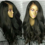 Ten Chopstics 180 Density Peruvian Non-Remy Human Hair Lace Front Human Hair Wigs For Black Women Pre Plucked Hairline Natural Colour Full Lace Wigs Loose Wave