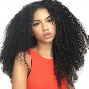 Ten Chopstics Wig 250% Density Thick Curly Human Hair Wigs Full Lace Wig Glueless Brazilian Lace Front Wigs for Black Women Bleached Knots Natural Baby Hair