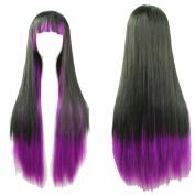 "YX 28"" Harajuku Lolita Wig Anime Cosplay Wigs Halloween Wigs synthetic Wigs women Long Straight Wigs with Bangs 70CM"