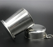 KOTiger Stainless Steel Portable Outdoor Travel Camping Folding Collapsible Cup Telescopic Cups