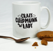 HippoWarehouse Crazy chipmunk lady womens 300ml
