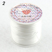 Lingduan Elastic Stretch Polyester Crystal String Cord for Jewellery Making Bracelet Beading Thread 60m/roll