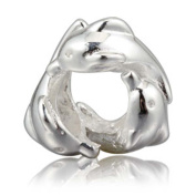 Family Dolphin Charm 925 Sterling Silver Animal Charm Ocean Charm for Pandora Charms Bracelet