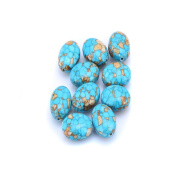 Turquoise Stone Loose Beads Oval Pendant Beaded Wired Gemstone Handmade Bead for Necklace Bracelet Jewellery Making Craft