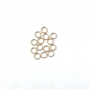 5 pcs 14k Gold Filled 4mm Jump Rings Closed Soldered 22ga 22 gauge Wire Connector / Findings / Yellow Gold