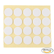 Joyingle 100 pcs Standard 20mm Candle Wick Stickers,Made of Heat Resistance Glue Adhere Steady in Hot Wax For Candle Making