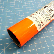 ThermoFlex Plus Neon Orange 38cm x 0.9m Iron on Heat Transfer Vinyl by Coaches World