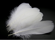 100PCS 4~15cm White Goose Feather for Home Wedding Party DIY Decor Crafts