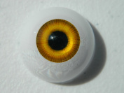 24mm Pair of Realistic Life Size Acrylic Half Round Hollow Back Eyes for Halloween PROPS, MASKS, DOLLS or Bears FW01