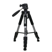 Zomei Q111 Protable 140cm Pro Aluminium Compact Lightweight Camera Tripod with Pan Head and Quick Release Plate for Digital SLR Canon EOS Nikon Sony Panasonic Samsung