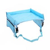 Car Dashboard Waterproof, gzqes, Tray Table For Children in the car seat, Children's Toys Sostenedor Children of Stroller Children, Light Blue