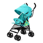 HJXJXJX High View Three-Colour Optional Four-Wheeled Baby Carriages Lightweight Children's Carts Portable Baby Carriages