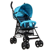 HJXJXJX Lightweight foldable portable widening baby four wheel trolley Stroller Buggy Pushchair