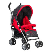HJXJXJX Aluminium Alloy Material Can Be Folded Portable High Landscape Baby Four Wheel Trolley Baby Stroller Pushchair