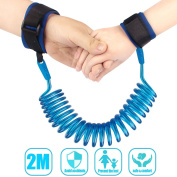 Kids Anti Lost Wrist Band Baby Child Safety Walking Hand Belt Hook and loop Wrist Link Adjustable 2M Walking Harness