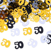 Outus 50 Number Confetti Birthday Decoration, Table Confetti, 50 g/ 50mls