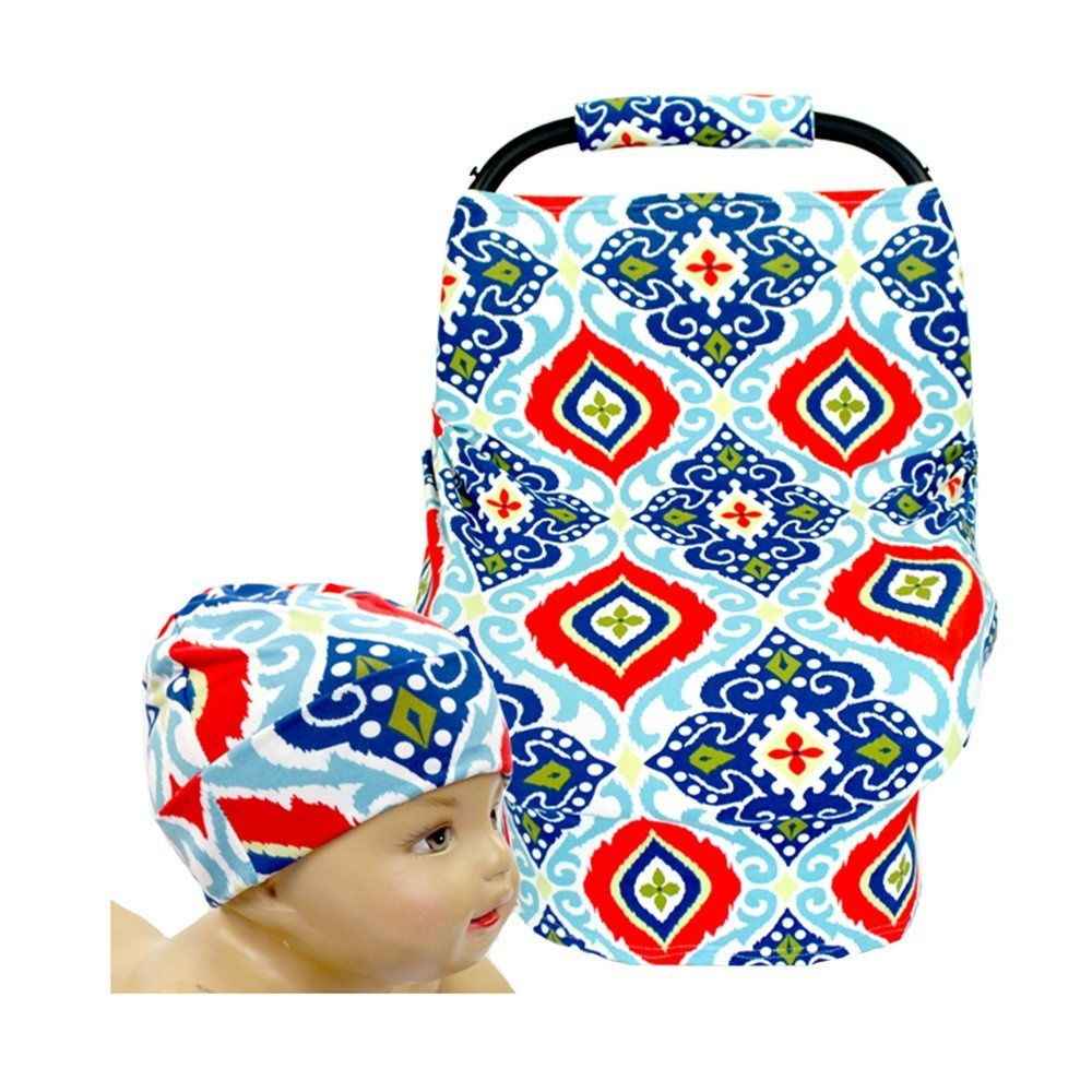 Safety Stretchy Newborn Infant Nursing Cover Baby Car Seat Canopy Cart Cover