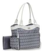 Carter's Zip Down Changing Pad Tote Nappy Bag - Grey