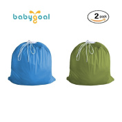 2 Pack Eco-friendly Washable Cloth Green Reusable Garbage Bags,Reusable Nappy Pail Liner for Cloth Nappy By BabygoalLL0809