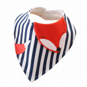 New Moms Gift,Dealzip Inc A Must Buy Organic Cotton 3D Cartoon Unisex Baby Bandana Drool Bib for Boys and Girls-Cute Fox