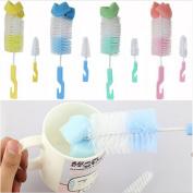 GaoCold 2x Baby Nipple Brush Bottle Brush 360 Degree Sponge Cleaner With Pacifier Brush