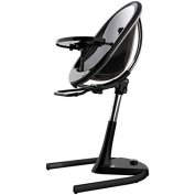 Mima Moon 2G Complete High Chair in Black with Silver Seat Pad