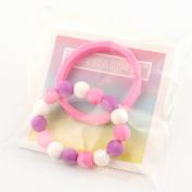 Silicone Jewellery Baby Teething Bangle Bracelet Geometric, Pink