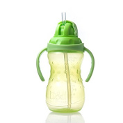 Baby Two Handle No Spill Super Spout Cup with Long Straw for Babies