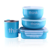 Thinkbaby Feeding Set - BPA Free - The Complete Set - Light Blue