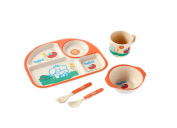 Bobei Natural Baby Supplies Bamboo Fibre Baby Dishware Combination Set5