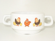 Soup Bowl , 1 pcs,chicken soup bowl small baby child kids , Bottom, animal ,bird, cartoon , cute animals , farm, KIDS, porcelain