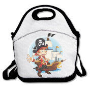 Pirate Prince Large & Thick Insulated Tote LunchBags Hawaii Lunch Bag For Men Women Kids Enjoy You Lunch