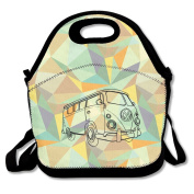 Official Volkswagen Campervan Heat Change Mug Large & Thick Insulated Tote LunchBags Tote Lunch Bag For Men Women Kids Art Of Lunch