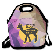Save The Drama For Yo' Llama Large & Thick Insulated Tote Lunch Tote Tote Lunch Bag For Men Women Kids Enjoy You Lunch