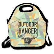 Outdoor Hanger Deer Large & Thick Insulated Tote Lunchbag Utensils Lunch Bag For Men Women Kids Art Of Lunch