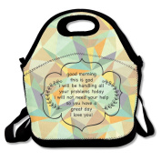 Good Morning From God Large & Thick Insulated Tote LunchToteBag Utensils Lunch Bag For Men Women Kids Art Of Lunch