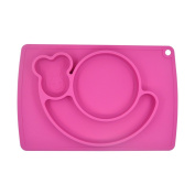 Dulcii Snail Design Usable Silicone Kids Placemat Plate Baby Feeding Mat Tray Non-slip Table Placemats Tableware, 38cm x 25cm