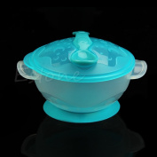 GaoCold New Baby Kids Children Suction Cup Bowl Slip-resistant Tableware Set Sucker Bow