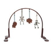 Finn + Emma Handmade Baby Wooden Play Gym, 100% Organic, Eco-Friendly, Sustainably and Ethically Produced, Perfect for Newborns or Toddlers, Safari Collection / Dark Wood