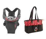 Mozlly Kit Infantino Swift Classic Baby Carrier and Mickey Mouse Tote Baby Nappy Bag - Baby Carrier and Nappy Bag Set - Item #K109005-109012