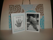 29cm Grandpa Give Me Five Frame Kit Handprint With Ink For Handprint With A Gift