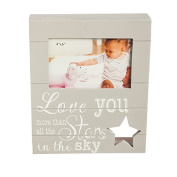 B. Boutique Love You More Than Stars Wooden Picture Frame Plaque